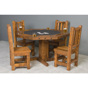 Convertible Poker & Dining Table by Viking Log Furniture - Americana Poker Tables