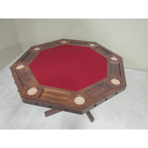 Convertible Poker & Dining Table by Viking Log Furniture