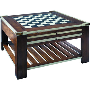 Convertible Chess & Games Table in 2 Finishes by Authentic Models - Americana Poker Tables