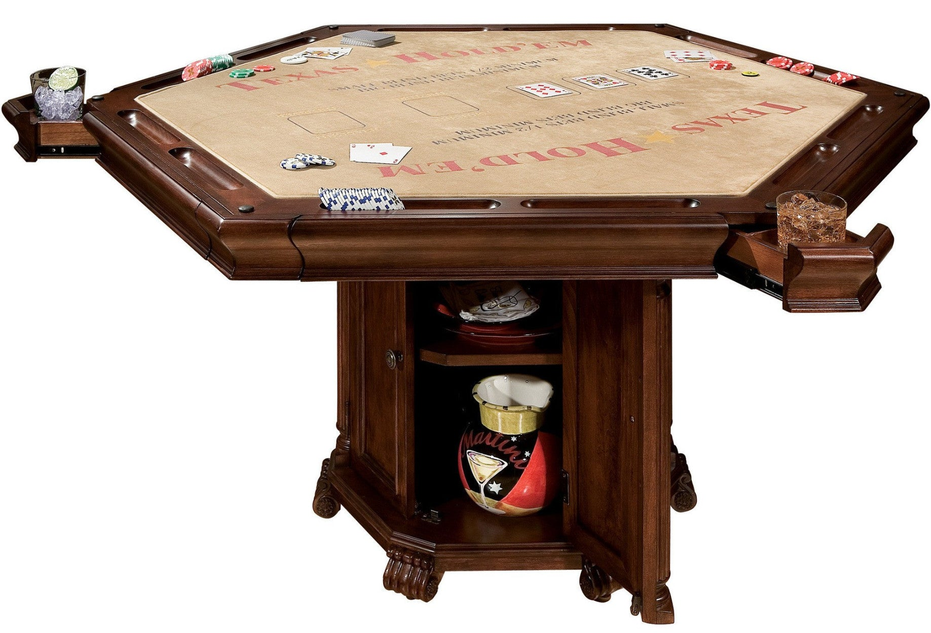 CONVERTIBLE POKER AND DINING TABLE NIAGARA BY HOWARD MILLER