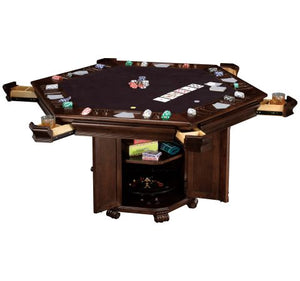 Howard Miller Poker and Dining Table set Niagara with 6 Bonavista Chairs