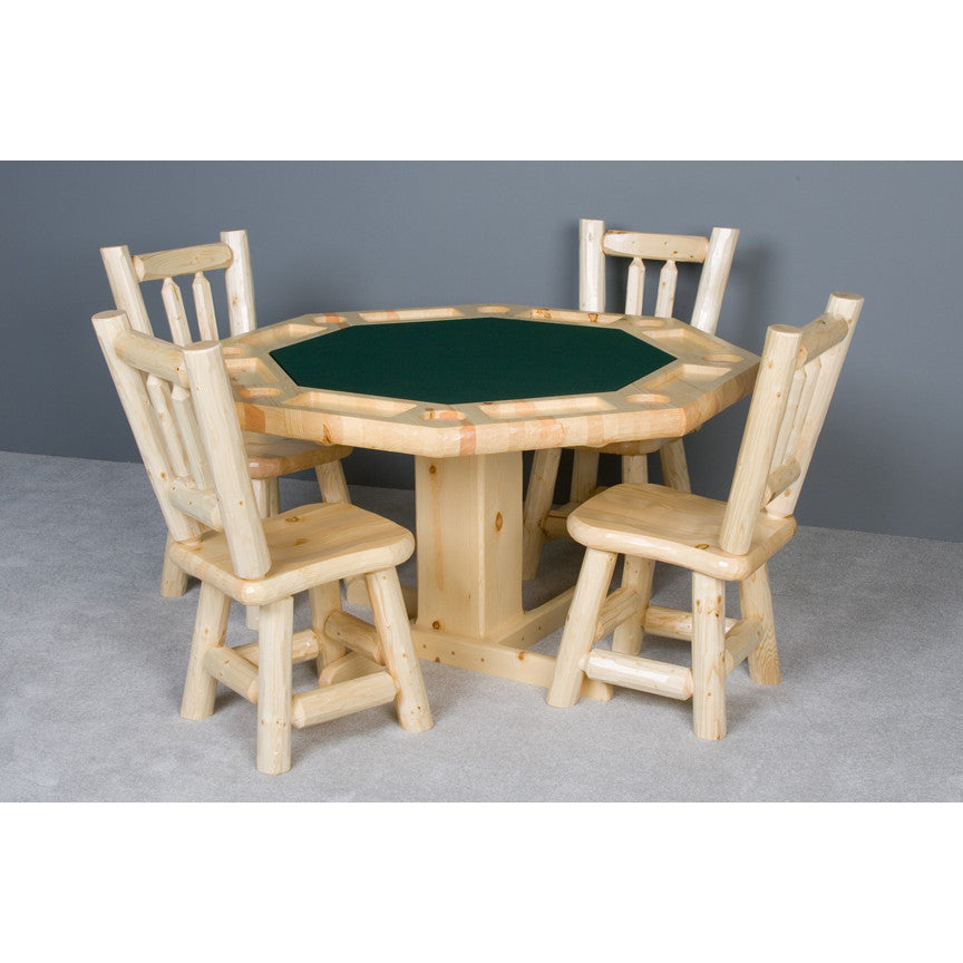 ... Convertible Poker U0026 Dining Table Northwoods Log By Viking Log Furniture    Americana Poker Tables ...