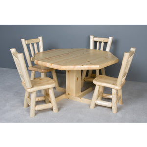 Convertible Poker & Dining Table Northwoods Log by Viking Log Furniture