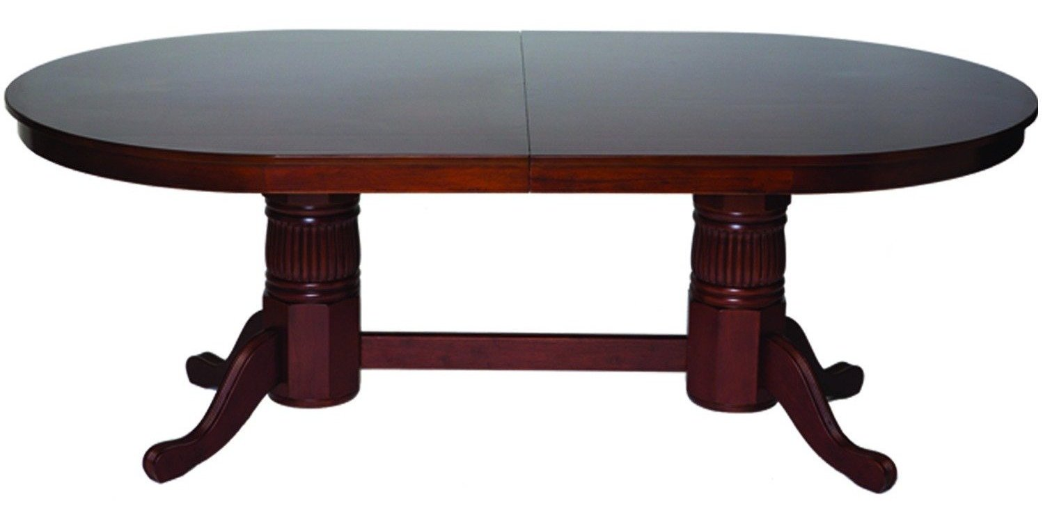 Convertible Poker & Dining Table by RAM GTBL84 WT BLK AMERICANA