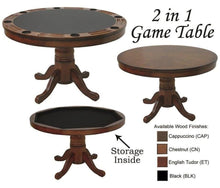 Convertible Round Poker & Dining Table with Convenient Storage, by RAM Game Room - AMERICANA POKER TABLES
