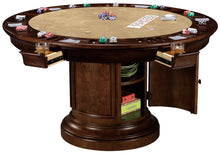 Howard Miller Poker and Dining Table Ithaca set with matching chairs - Americana Poker Tables