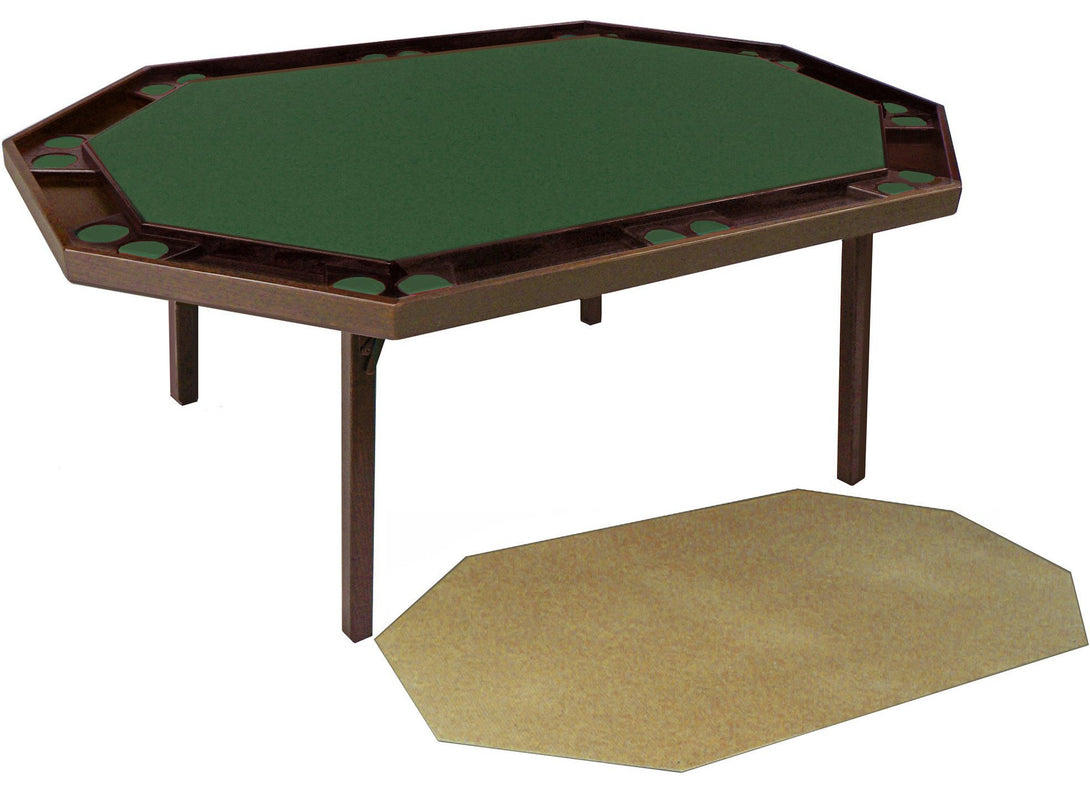Maple Deluxe Folding Poker Table (includes a utility service top), by Kestell, M-872