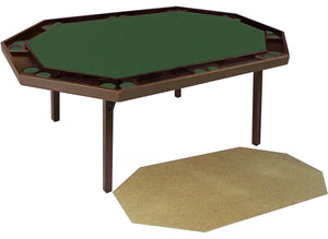 Maple Deluxe Folding Poker Table (includes a utility service top), by Kestell, M-872 - AMERICANA POKER TABLES