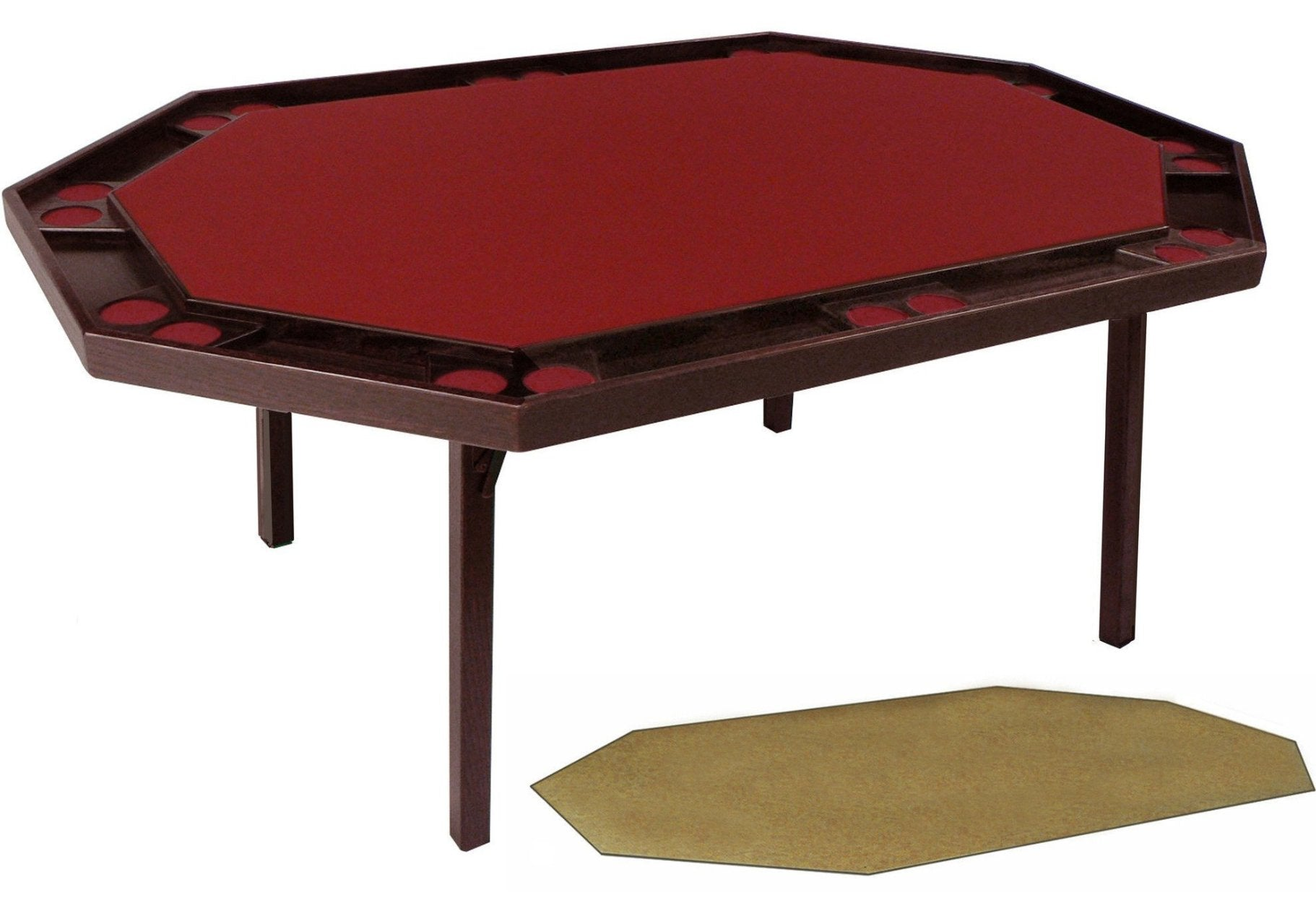 Gentil Oak Deluxe Folding Poker Table (includes A Utility Service Top), By  Kestell, ...