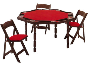 "Kestell O-85 Oak Period Style Folding Leg Poker Table 57"" - AMERICANA POKER TABLES"