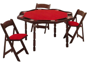 "Maple Period Style Folding Leg Poker Table, in 57"", by Kestell M-85 - Americana Poker Tables"