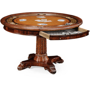 Mahogany Poker Table by Jonathan Charles - Americana Poker Tables