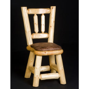 Poker Chair Set: 4, 6 or 8 Poker and Dining Chairs Northwoods Log by Viking Log