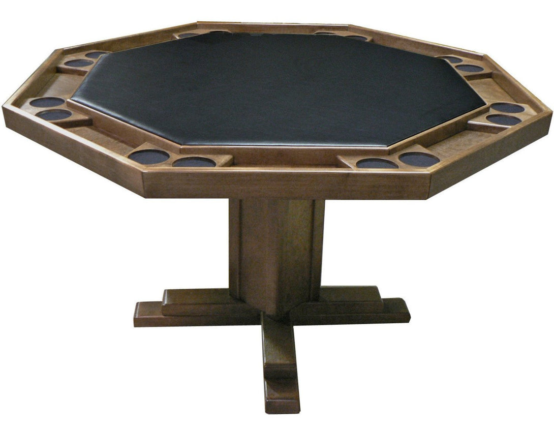 Oak Poker Table by Kestell, Pedestal Base - AMERICANA POKER TABLES