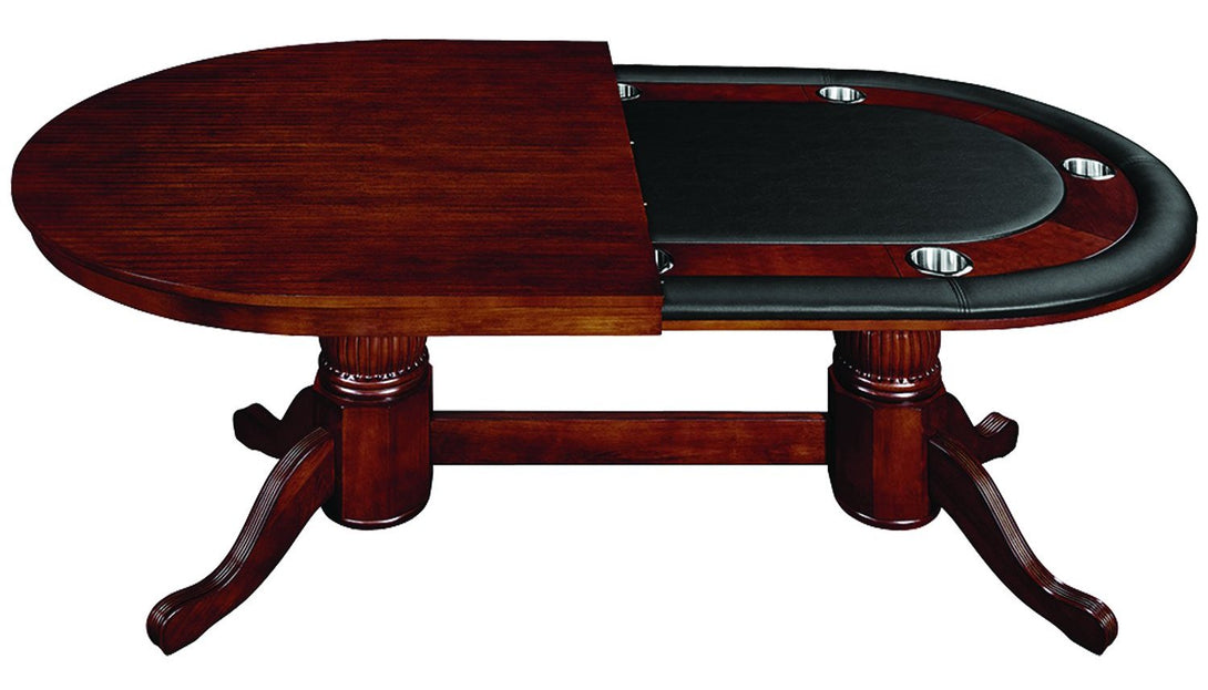 RAM Game Room Oval Poker Table Set with Matching Chairs - Americana Poker Tables