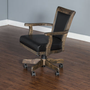 Poker Chair Set: 4 or 6 Tobacco Leaf Poker Chairs by Sunny Designs