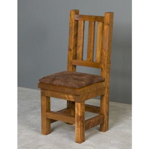 Poker Chair Set: 2 or 4 or 6 Poker and Dining Chairs Barnwood by Viking Log