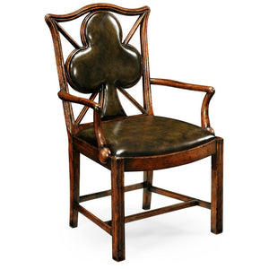 Poker Chair Set: 8 Leather Chairs by Jonathan Charles - AMERICANA POKER TABLES