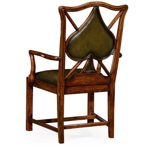 Poker Chair Set: 8 Leather Chairs by Jonathan Charles