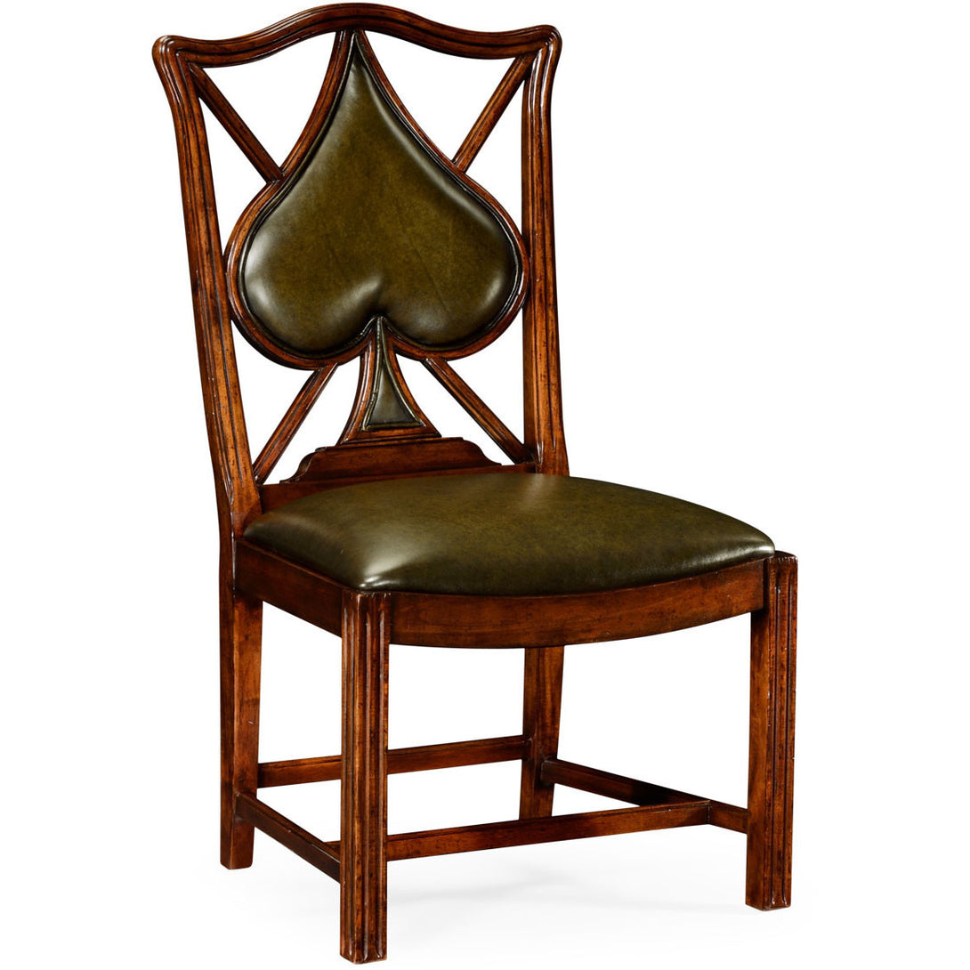 Poker Chair Set: 4 Leather Chairs by Jonathan Charles