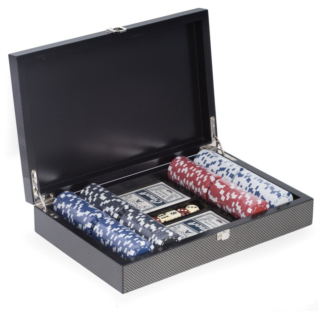 Poker Set with 200 Clay Composite Chips,