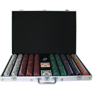 Pre-Pack - 1000 Ct Ace King Suited Chip Set with Aluminum Case, by Brybelly