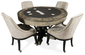 Presidential Billiards Convertible Poker Table Vienna with matching chairs