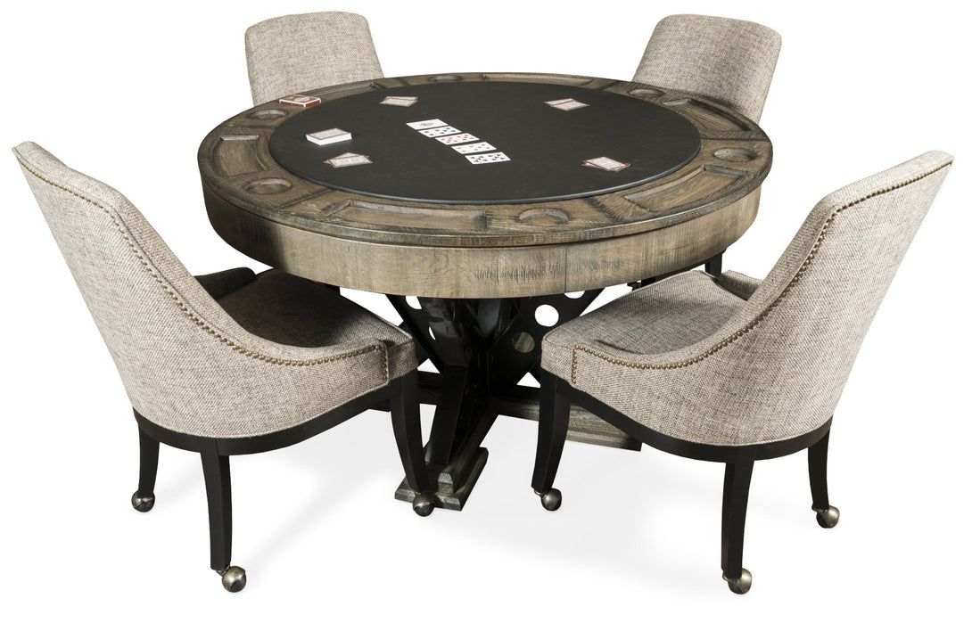 Presidential Billiards Convertible Poker Table Vienna with matching chairs - Americana Poker Tables