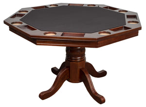 Presidential Billiards Octagonal Poker Table with Dining Top - AMERICANA POKER TABLES