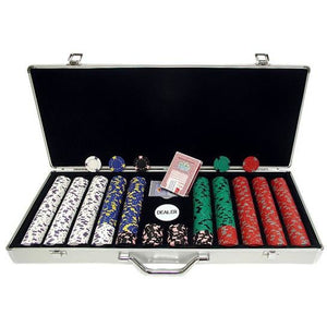 Pro Clay Poker Chip Set with 650 Pieces in Aluminum Case - Americana Poker Tables