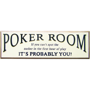 "RAM Pup sign ""POKER ROOM"" - Americana Poker Tables"