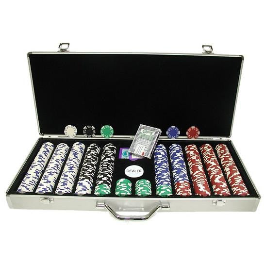 Royal Suited 650 Piece Poker Chip Set in Aluminium Case
