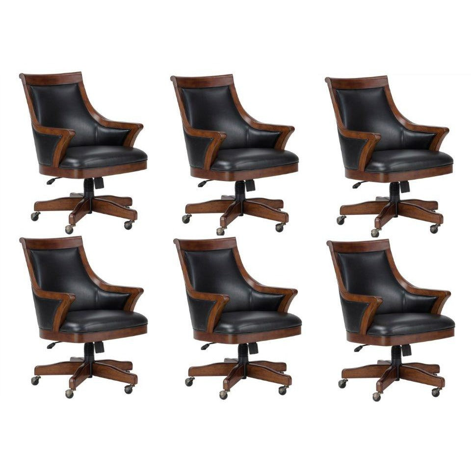 Set of Six (6) or Eight (8) Bonavista Cushioned Chairs by Howard Miller - AMERICANA POKER TABLES