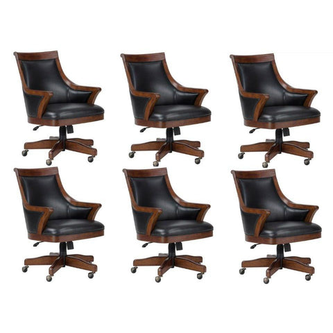 set of six 6 or eight 8 bonavista cushioned chairs by howard