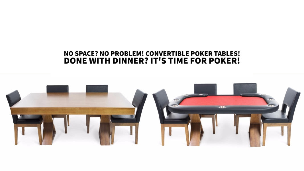 Poker Tables Americana: Done with Dinner. It's time for Poker.