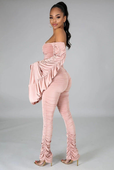 I Believe I Can Fly....Oversized Sleeve Stacked Pants Set.