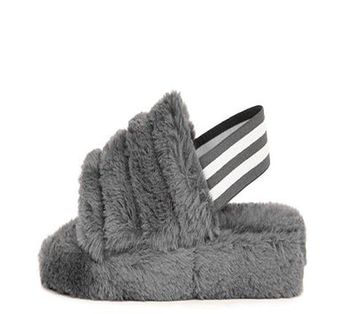 Cuddles 01......Fur Sandal Slides