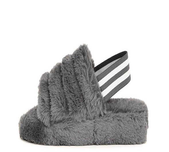 Cuddles 01......Fur Sandal Slides.