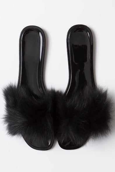 Jackie-03.....Jelly Fur Sandal Slides.