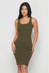 Plain Jane....Tank Midi Dress.