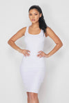 Plain Jane....Tank Midi Dress