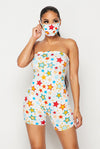 Misunderstood....Tube Short Romper w/ Mask