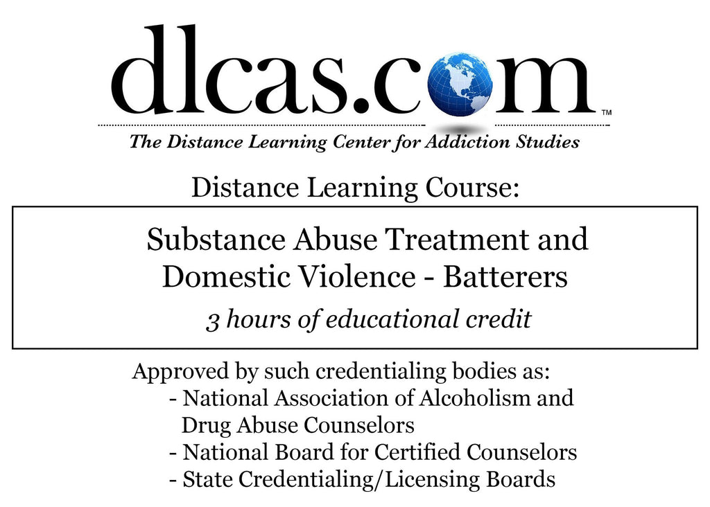 Substance Abuse Treatment And Domestic Violence Batterers 3 Hours