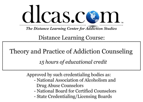 Theory and Practice of Addiction Counseling (15 hours)
