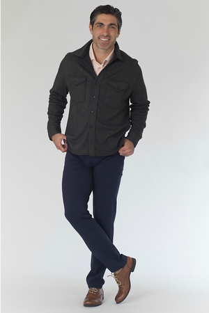 Buki's Men's CPO Shirt | long sleeve shirt jacket designed with technical fabric and pieced on a placket