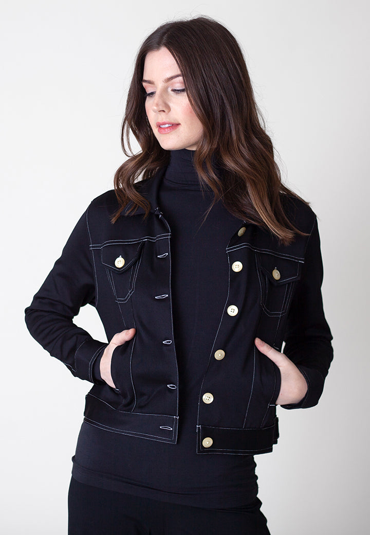 Buki's Neo-Tech Jacket | Our version of the classic denim jacket - but instead of denim, we made it with our stretch technical fabric to make it the ultimate in performance-wear | Women's Clothing | Women's Jacket | Women's Performance Clothing | Free Shipping