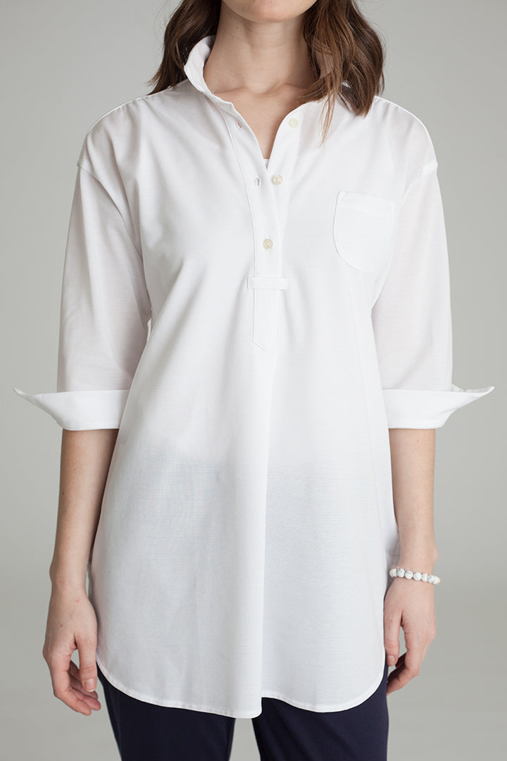 Buki's Boardwalk Tunic has gorgeous pleating on the back, neck, and sides.