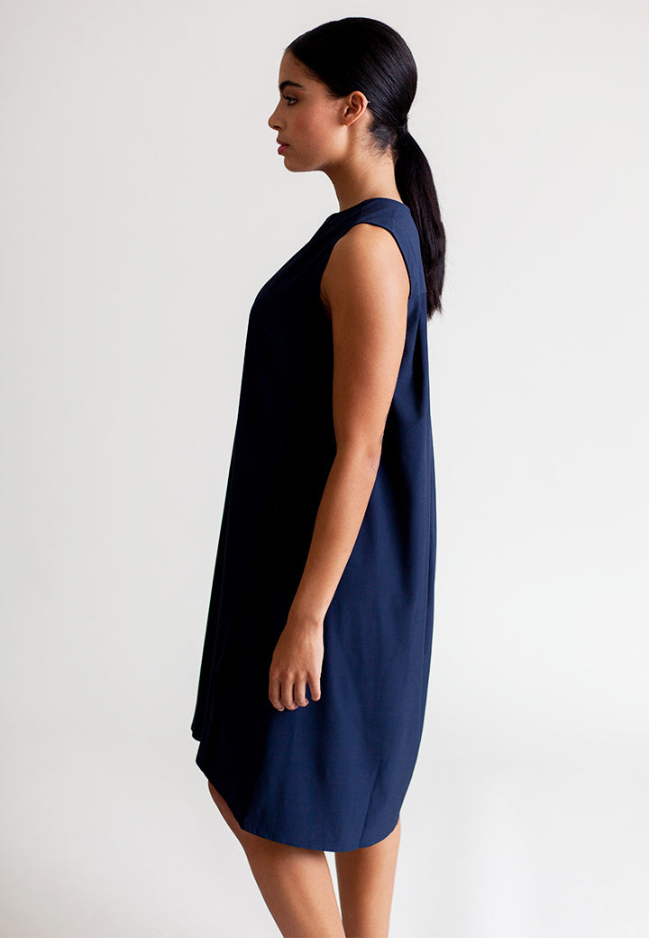 Buki A-Liner Dress in Navy