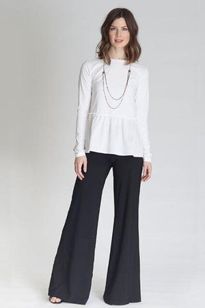 Buki's wide leg Marta Pant - elastic waistband,  wide leg, comfortable pants, dressy pants, technical clothes, womens apparel