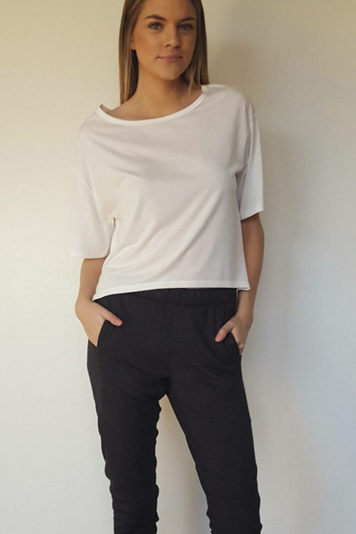 The Como Crew by Buki | a boatneck crew with a casual, draped fit